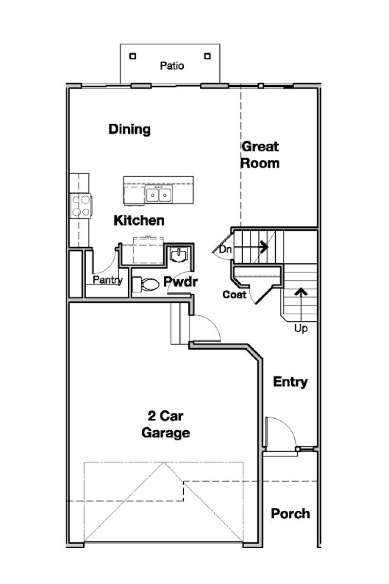 Carson Interior Townhouse Floorplan in Salt Lake, UT