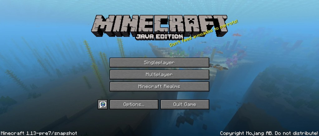 Update Aquatic New Features Minecraft 1.13 Release Date