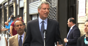 de Blasio Declares for Donald's Desk Job