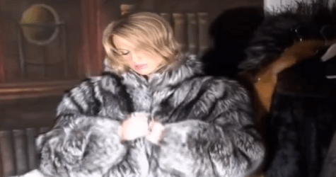 A Fur Coat Diplayed In A Mirmansk Shop- The Window Dressing Of F***Book News