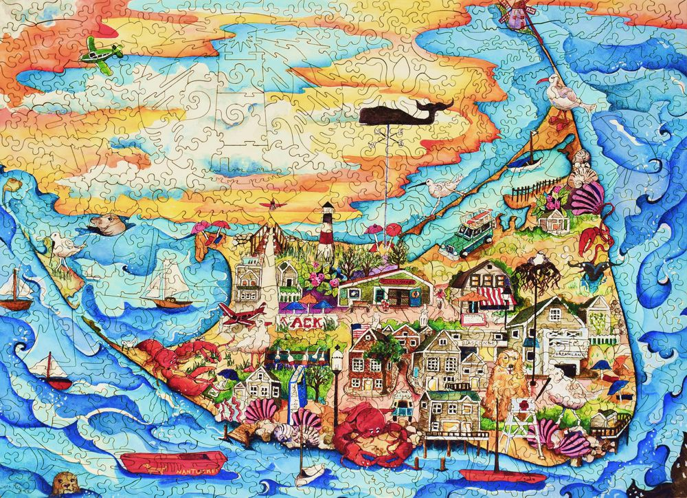 Nantucket Wooden Jigsaw Puzzle Liberty Puzzles Made