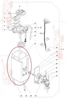 Wassertank ohne Zubehör Evoca N&W Wittenborg FB50 FB55