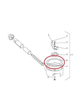 Dichtung Kaffeebehälter Evoca N&W FB7100 FB7600 FB5100