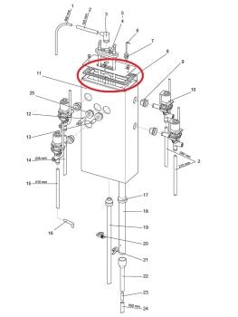 Tankdeckeldichtung Evoca N&W Necta Wittenborg FB5100