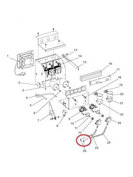 Auslaufrohr gewinkelt Evoca N&W Wittenborg FB5500, FB5100