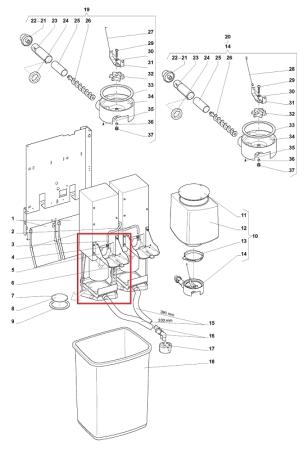 Halterung für Brüher Evoca N&W Wittenborg FB5100 FB7600