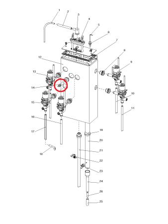 Thermistor für Wassertank Wittenborg Serie 2800 5100 5500