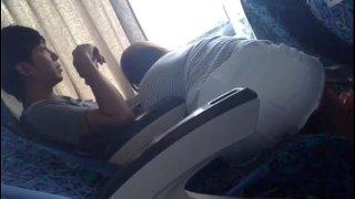 Malibog ng mag jowa sa bus - public chupaan