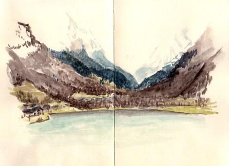 loudenvielle-lac-aquarelle