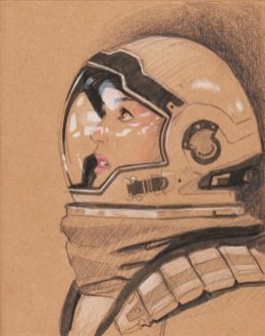 Anne Hathaway en cosmonaute