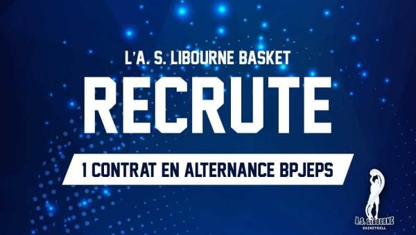 libourne basket recrute un apprenti BPJEPS