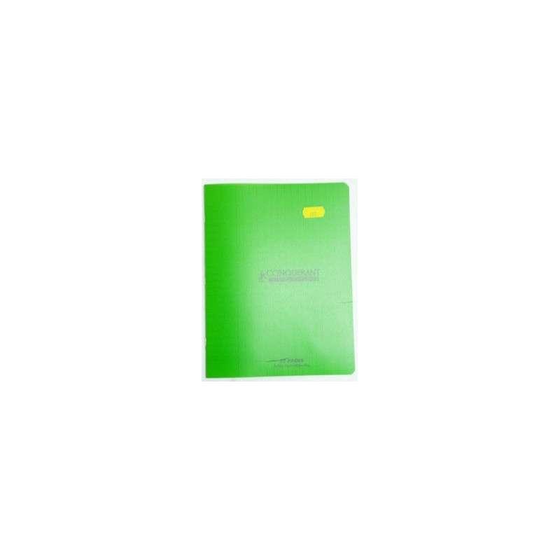 cahier pique 17x22 32p vert 90g seyes polypro