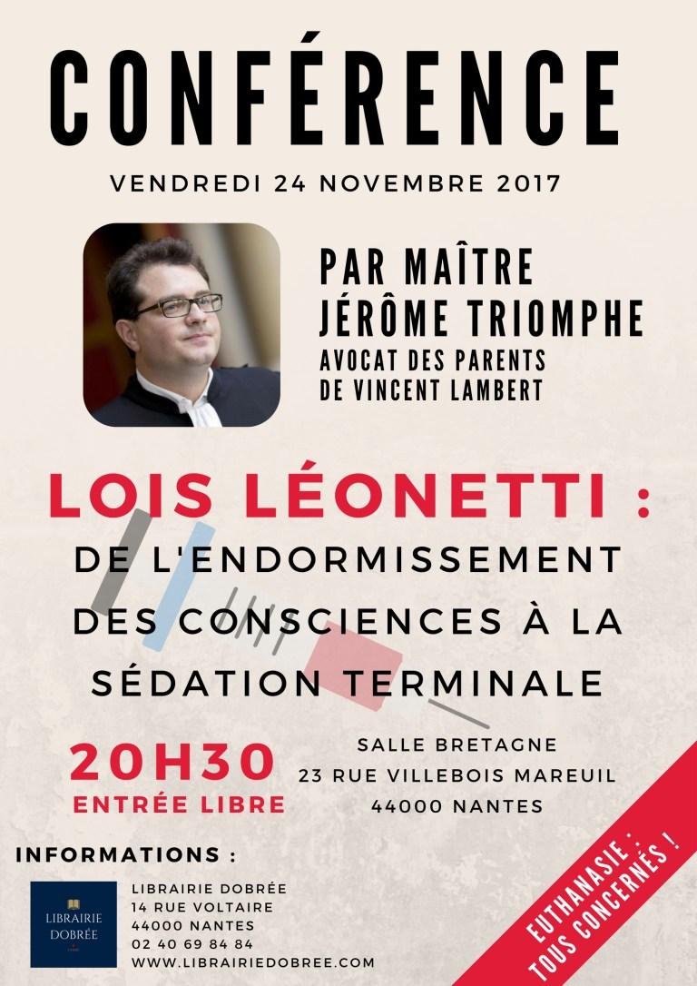 Conférence de Maître Jérôme Triomphe