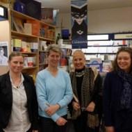 Sandrine Collette et l'équipe de la Librairie Nicole Maruani