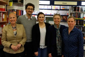 david foenkinos et l'equipe de la librairie