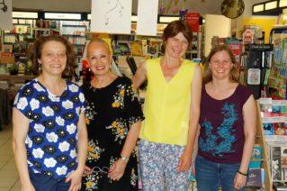 Lucile Bordes et l'équipe de la librairie Nicole Maruani