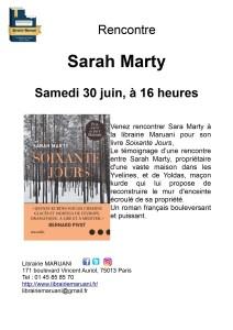 Affiche Sarah Marty