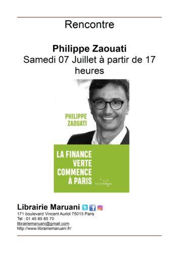 Rencontre Philippe Zaouati 7 juillet 2018