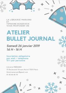 Atelier bullet journal janvier