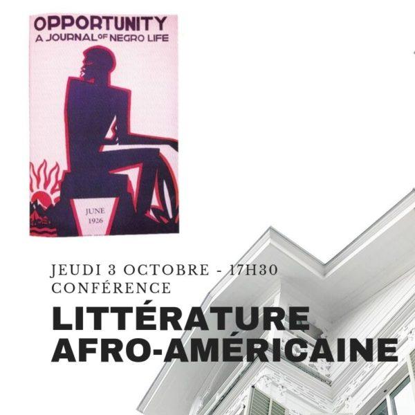 Conférence littérature afro-américaine