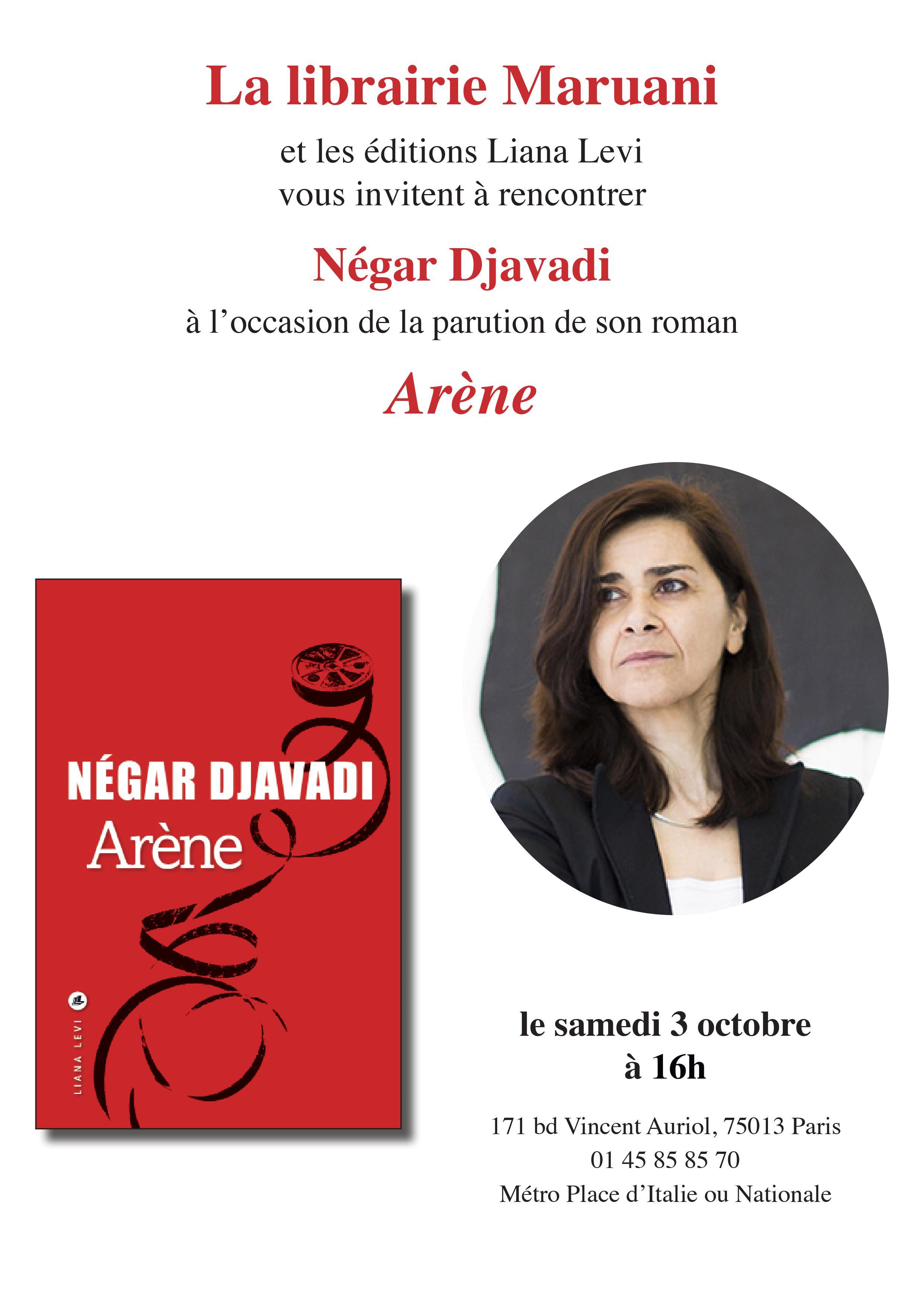 Rencontre Négar Djavadi