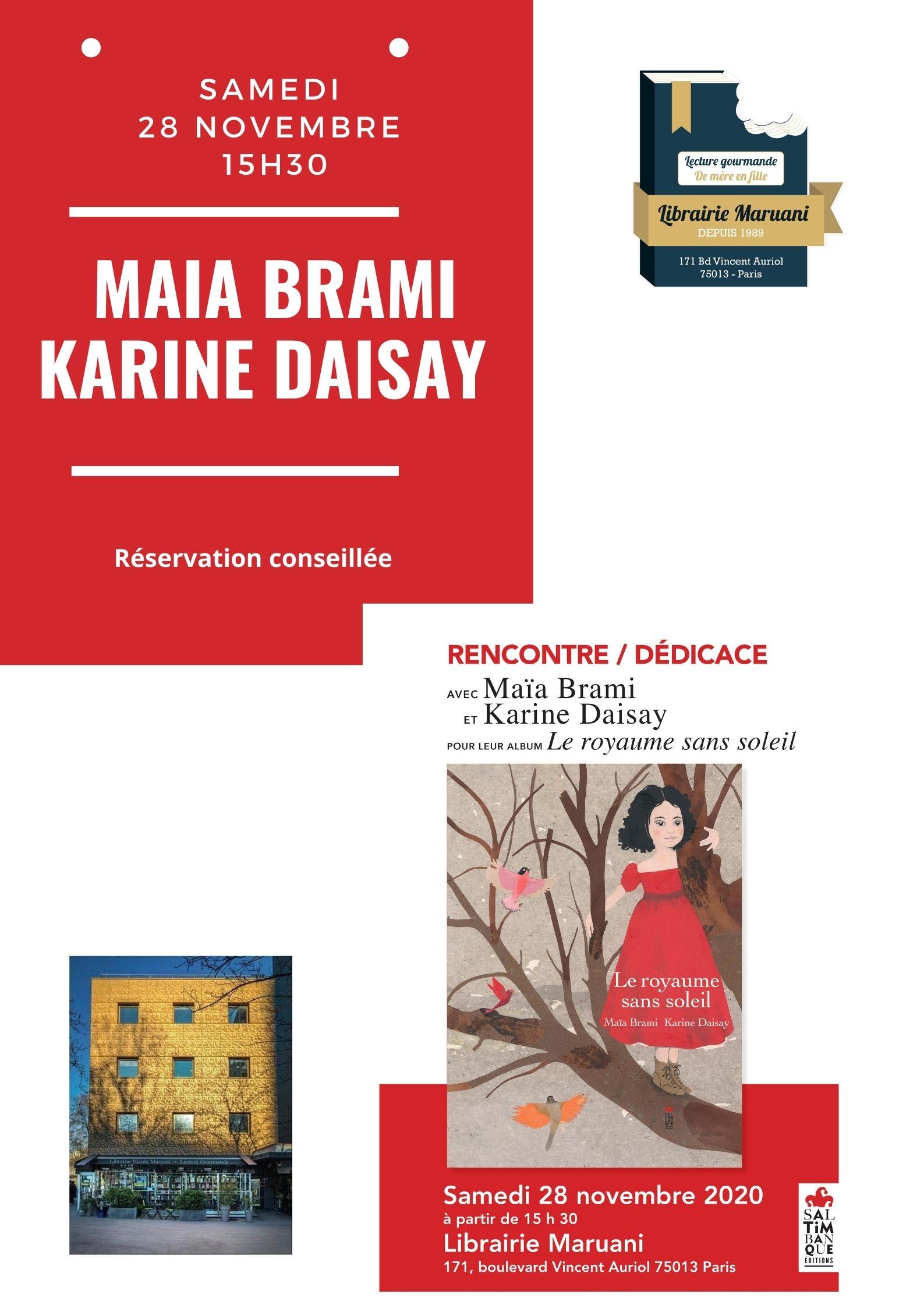 Rencontre Maïa Brami et Karine Daisay