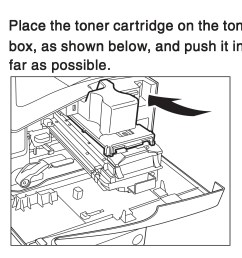 place the toner cartridge on the toner box as shown below and [ 2861 x 2406 Pixel ]