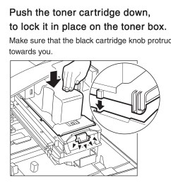 push the toner cartridge down to lock it in place on the toner [ 2753 x 2490 Pixel ]