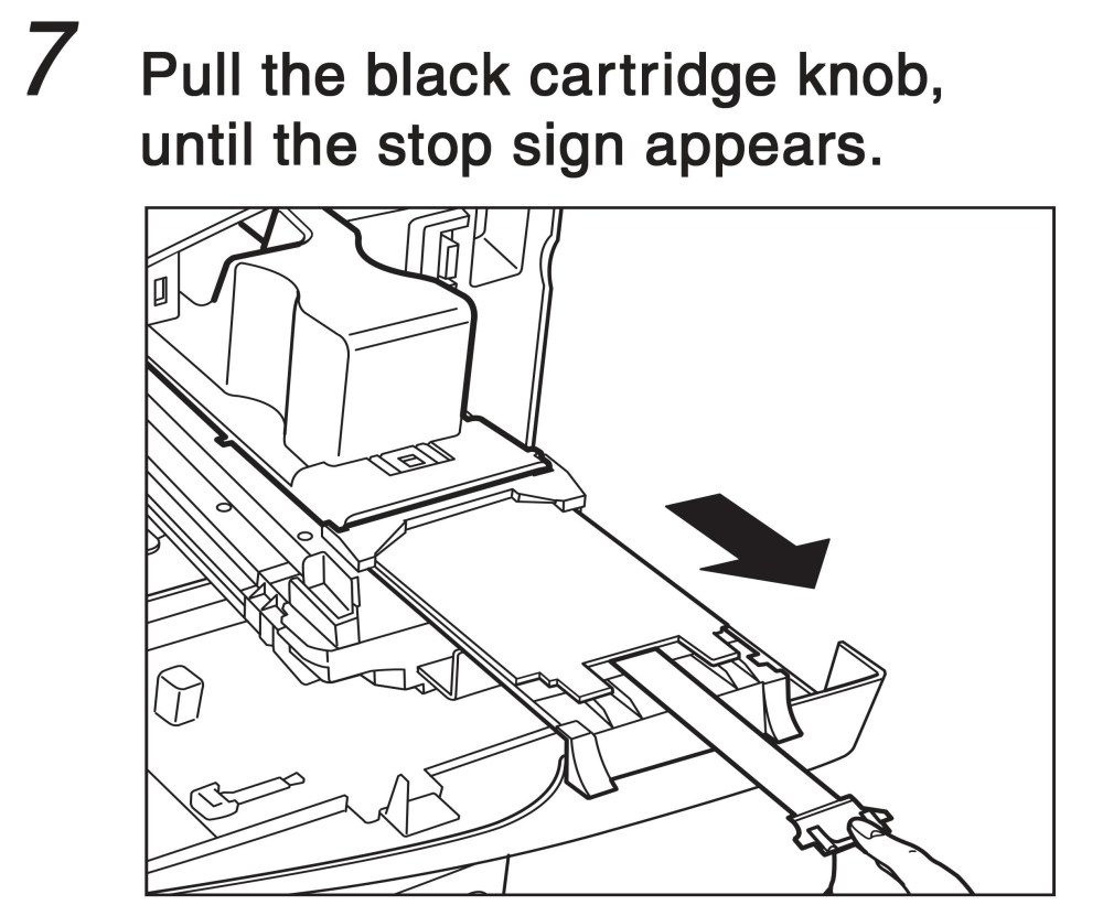 medium resolution of pull the black cartridge know until the stop sign appears