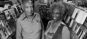 Aquarius Bookstore, Los Angeles (Calif.) - Alfred Ligon with his wife.
