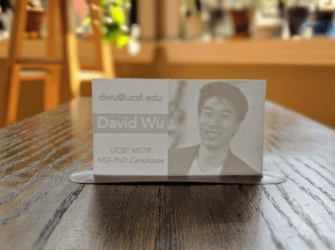 3D printed buinsess card with 2mm thickness