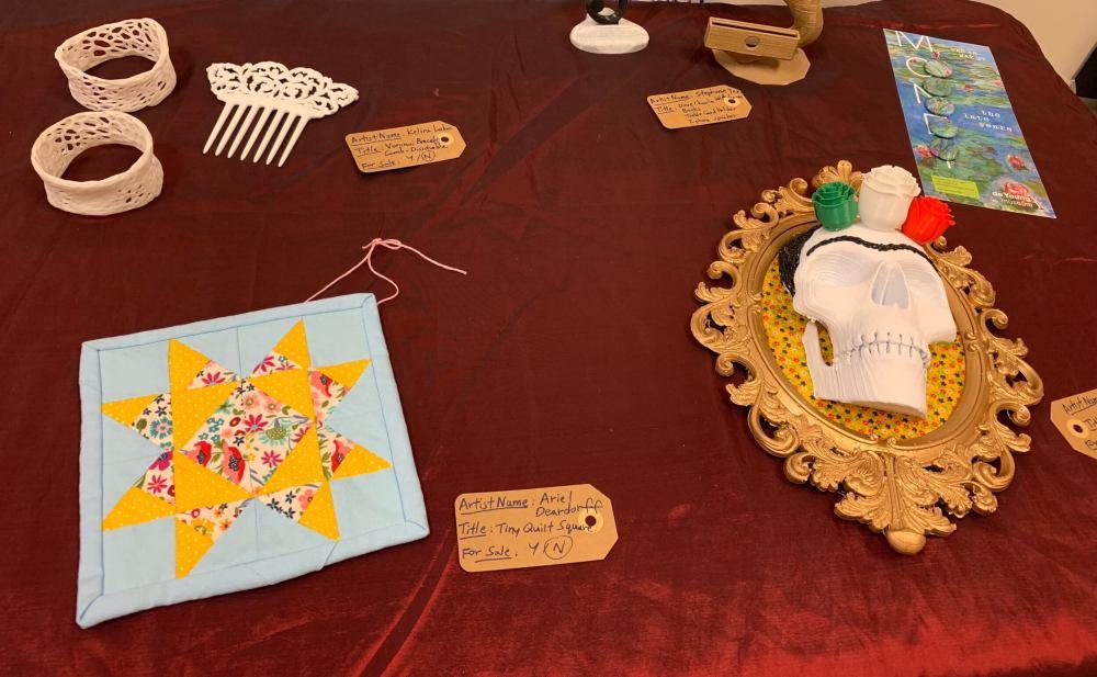 Makers Lab art show pieces