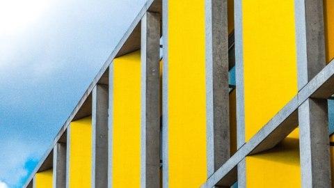 Yellow building facade