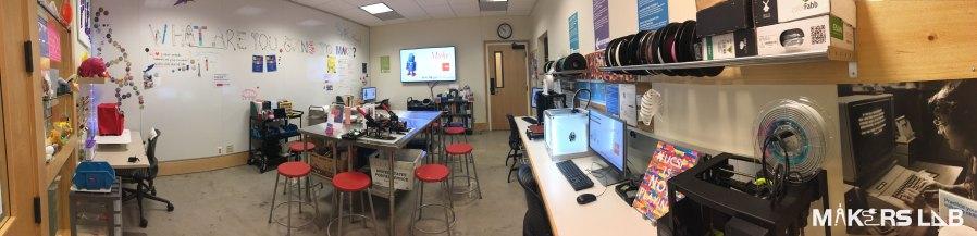 Makers Lab interior panoramic