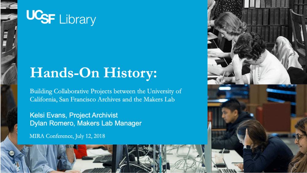 Hands-On History presentation slide