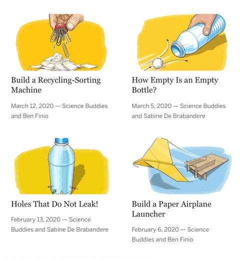 Story Scientific America's Bring Science Home website