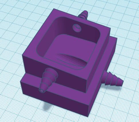Iteration of model with pocket hole