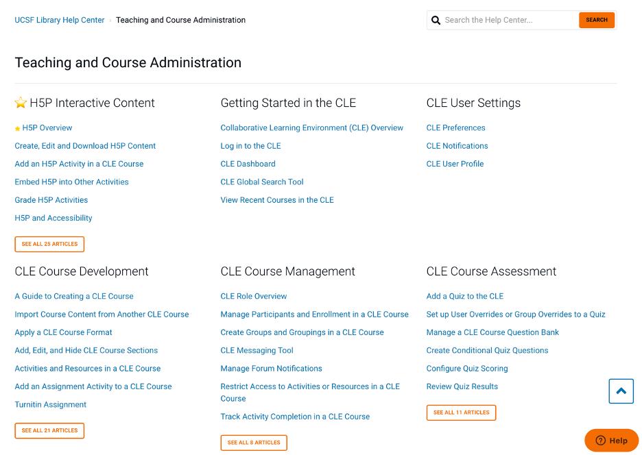 help center articles
