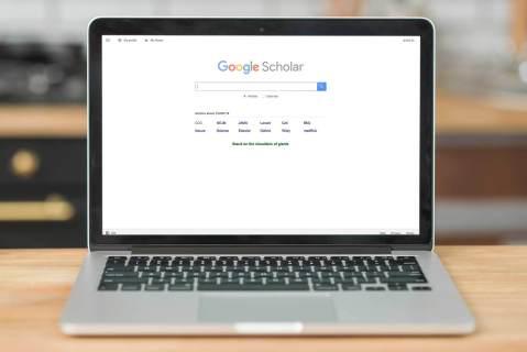 Google Scholar on a screen