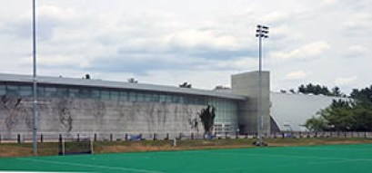 The Whittemore Center across Memorial Field, July 2016.
