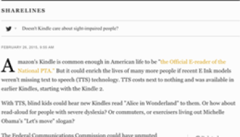 Want read-aloud in Kindles and other readers? Use the FCC's