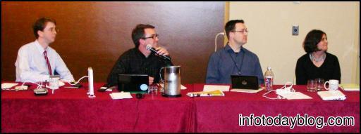 Unconferences Panel (L-R) John Blyberg, Steve Lawson, Stephen Francoeur, Kathryn Greenhill