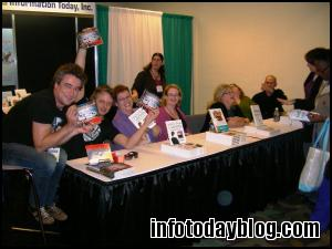 Authors of books recently published by ITI gather for a signing