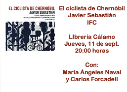 el ciclista de chernbil el da 11 09 2014 a las 20 00 horas en librera clamo el jueves 11