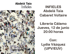 infieles de abdel taia el da 12 06 2014 a las 20 00 horas en librera clamo abdel taia premio