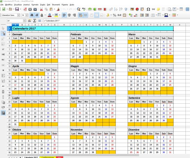 Calendari in vari formati Image
