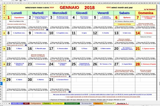 Calendario Astronomico Image
