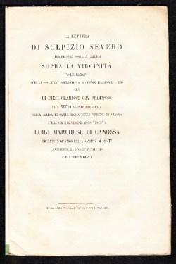 La lettera di Sulpizio Severo alla propria sorella Claudia sopra la verginità
