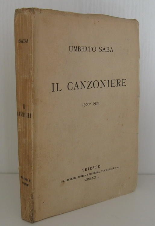Prime edizioni autografate Umberto Saba  Il canzoniere  1921 video