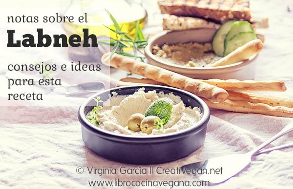 Notas sobre el labneh, queso vegano de yogur - Virginia García - CreatiVegan.net para LibroCocinaVegana.com